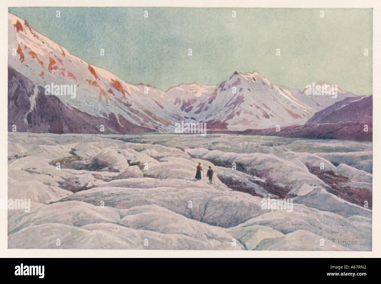 Glaciar Tasman Foto de stock