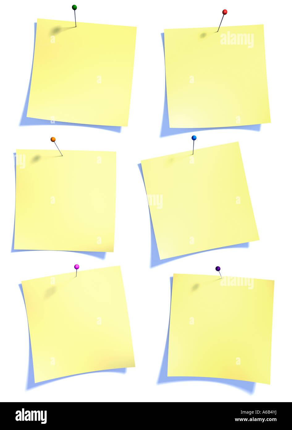 Papel post es símbolo de la oficina de información storrage foro blog Imagen De Stock
