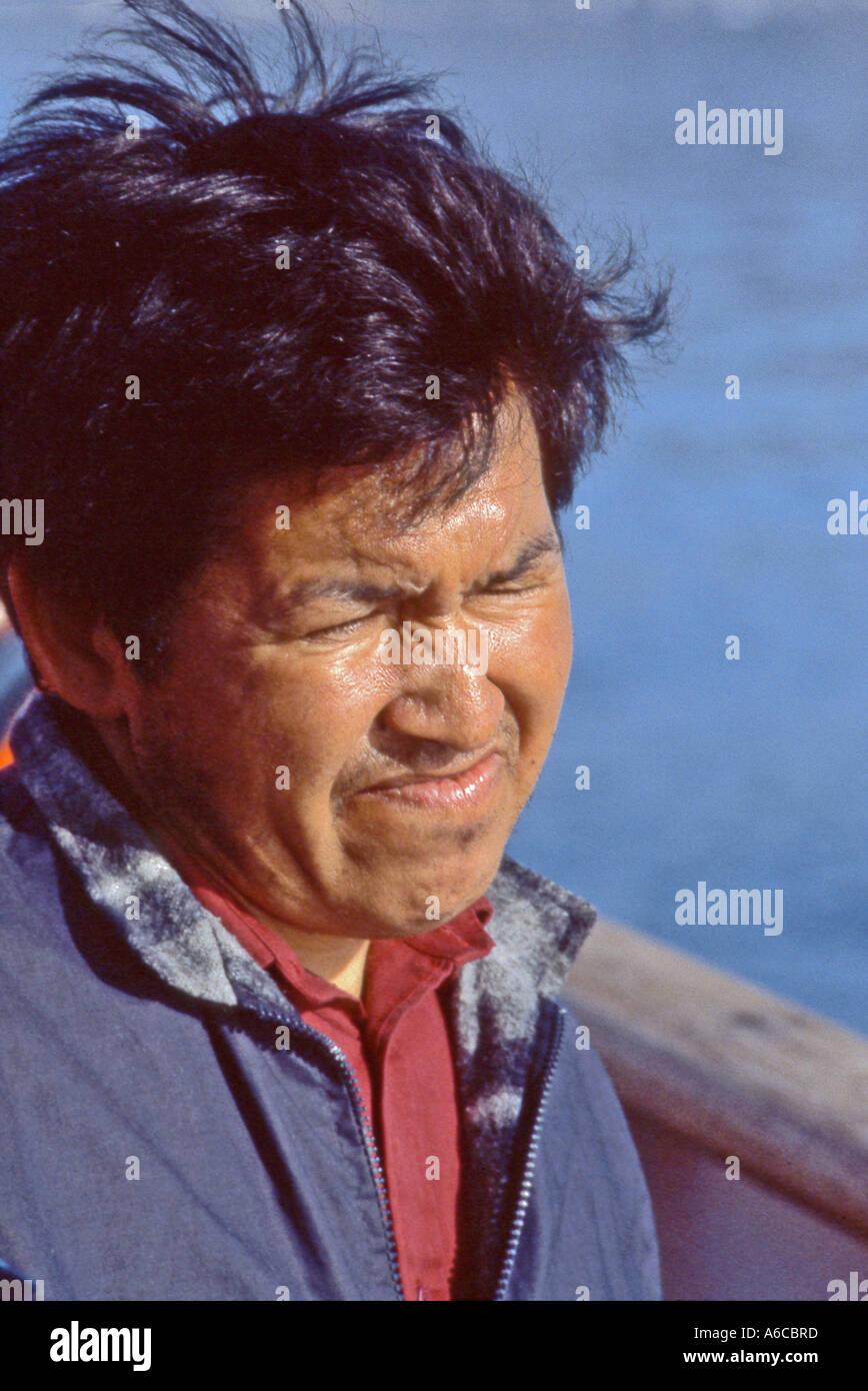 Pescador groenlandés Foto de stock
