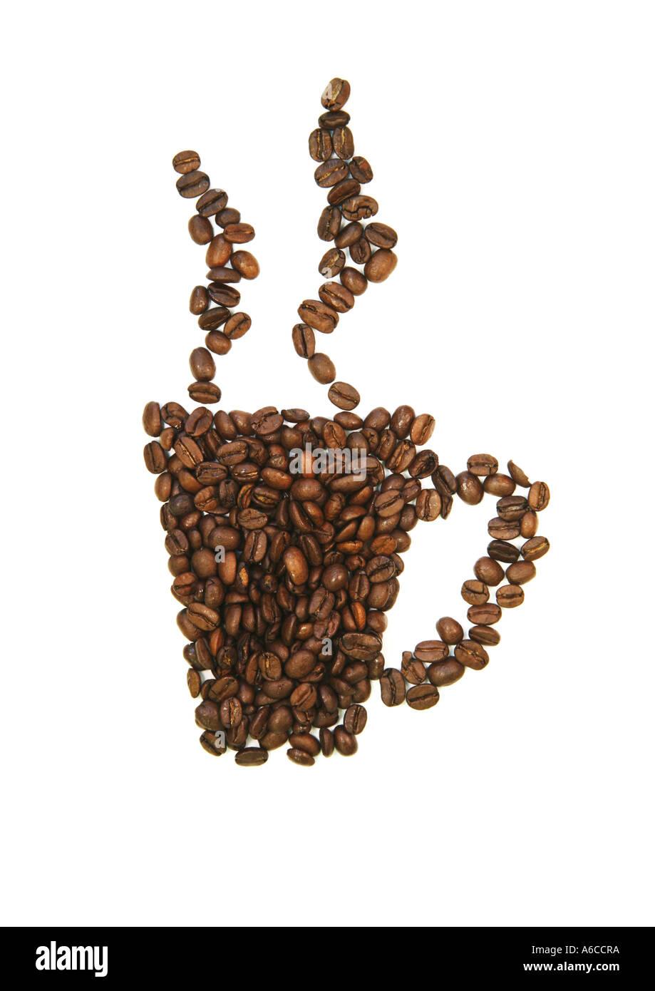 Concepto de granos de café Imagen De Stock