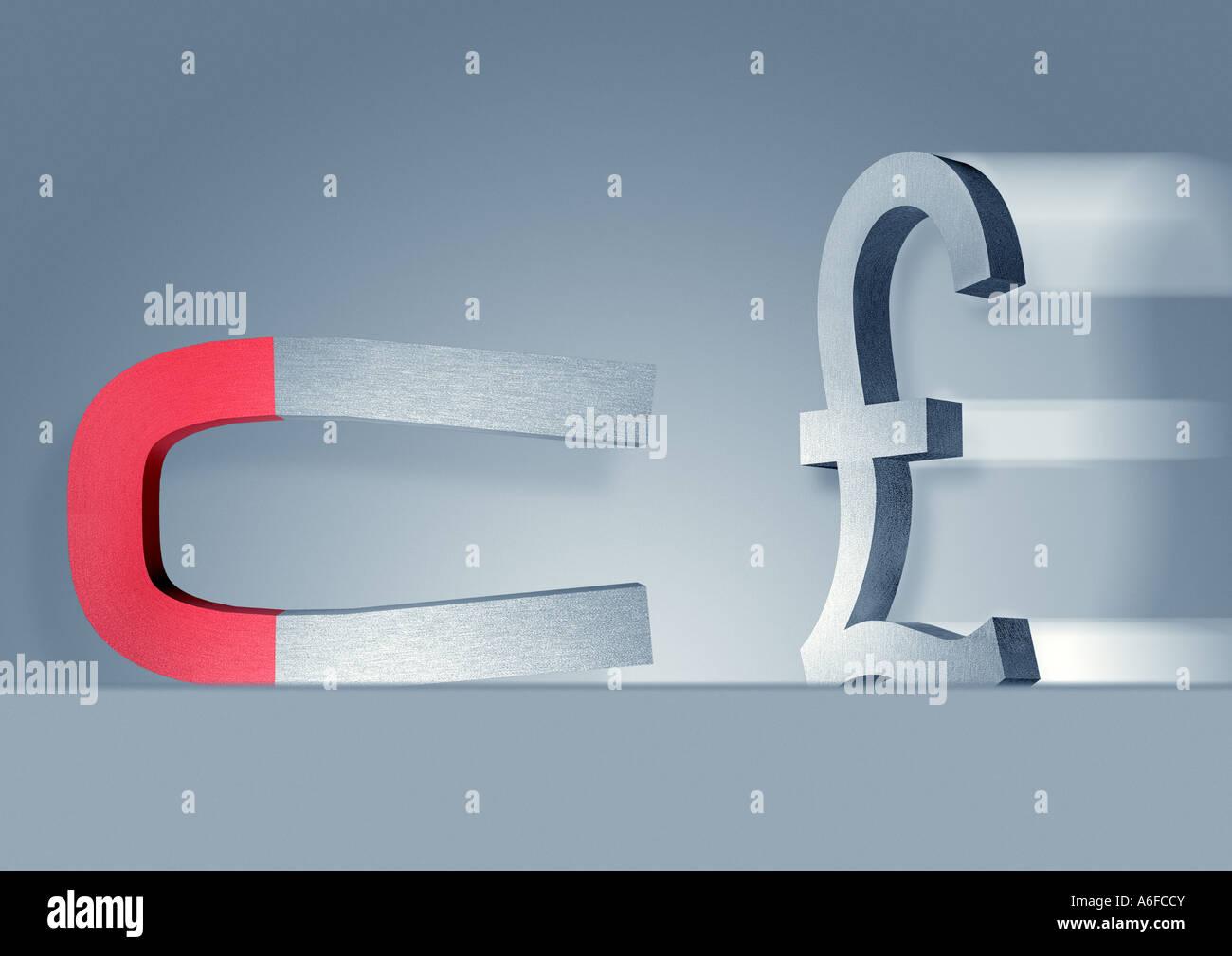 Almohadilla Pfund Zeichen Foto de stock