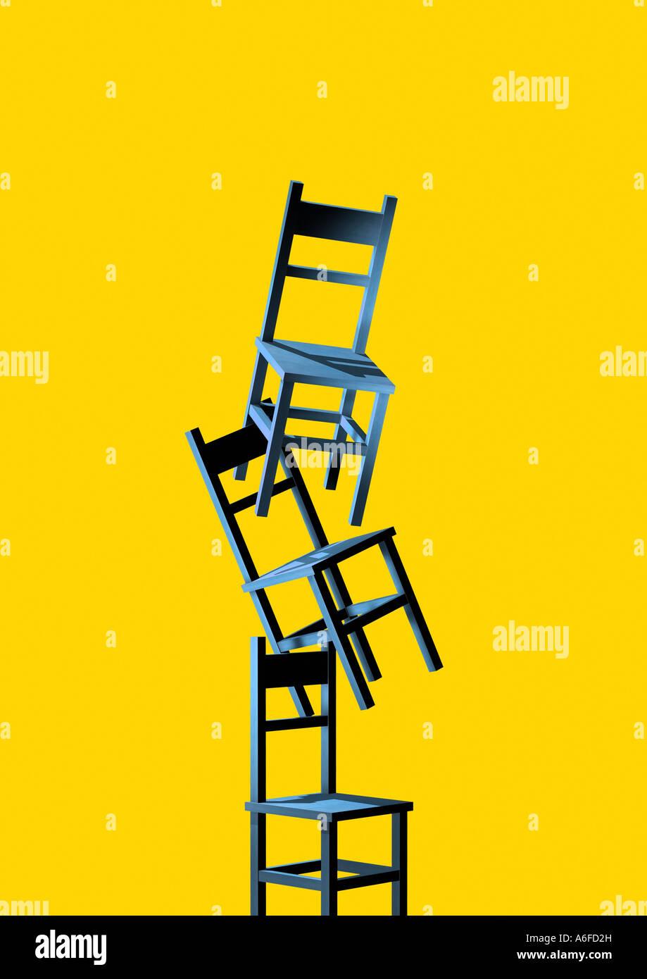 sillas Stuehle Imagen De Stock