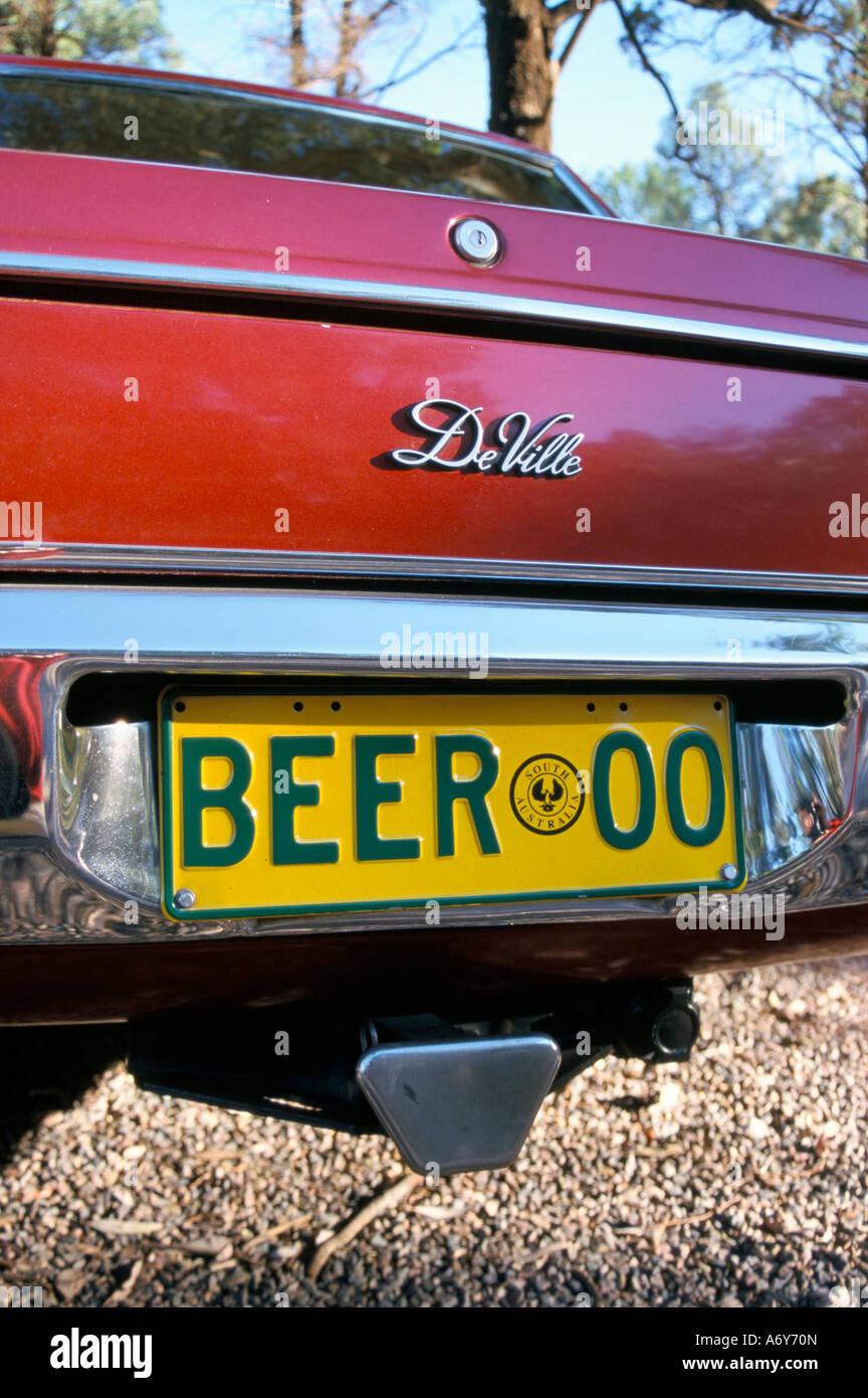 Placa de matrícula del coche cerveza Pacífico Australia del Sur Foto de stock