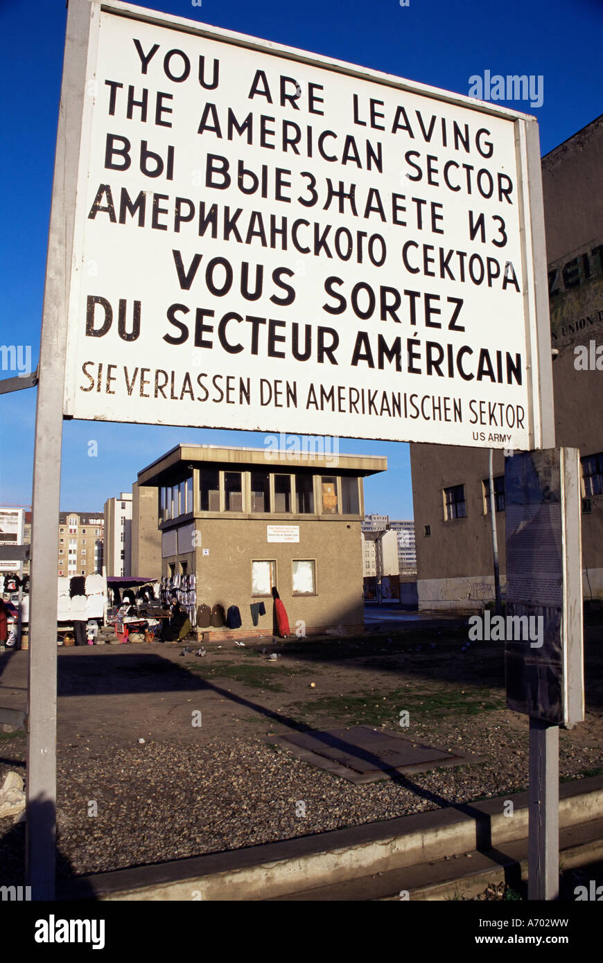 Control fronterizo Checkpoint Charlie Berlin Berlin Alemania Europa Occidental Imagen De Stock