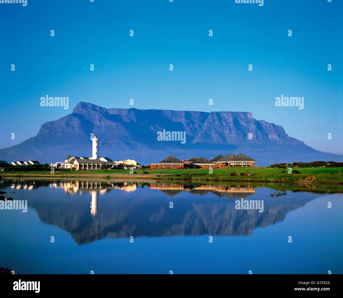Table Mountain en Ciudad del Cabo Western Cape Province Sudáfrica Foto de stock