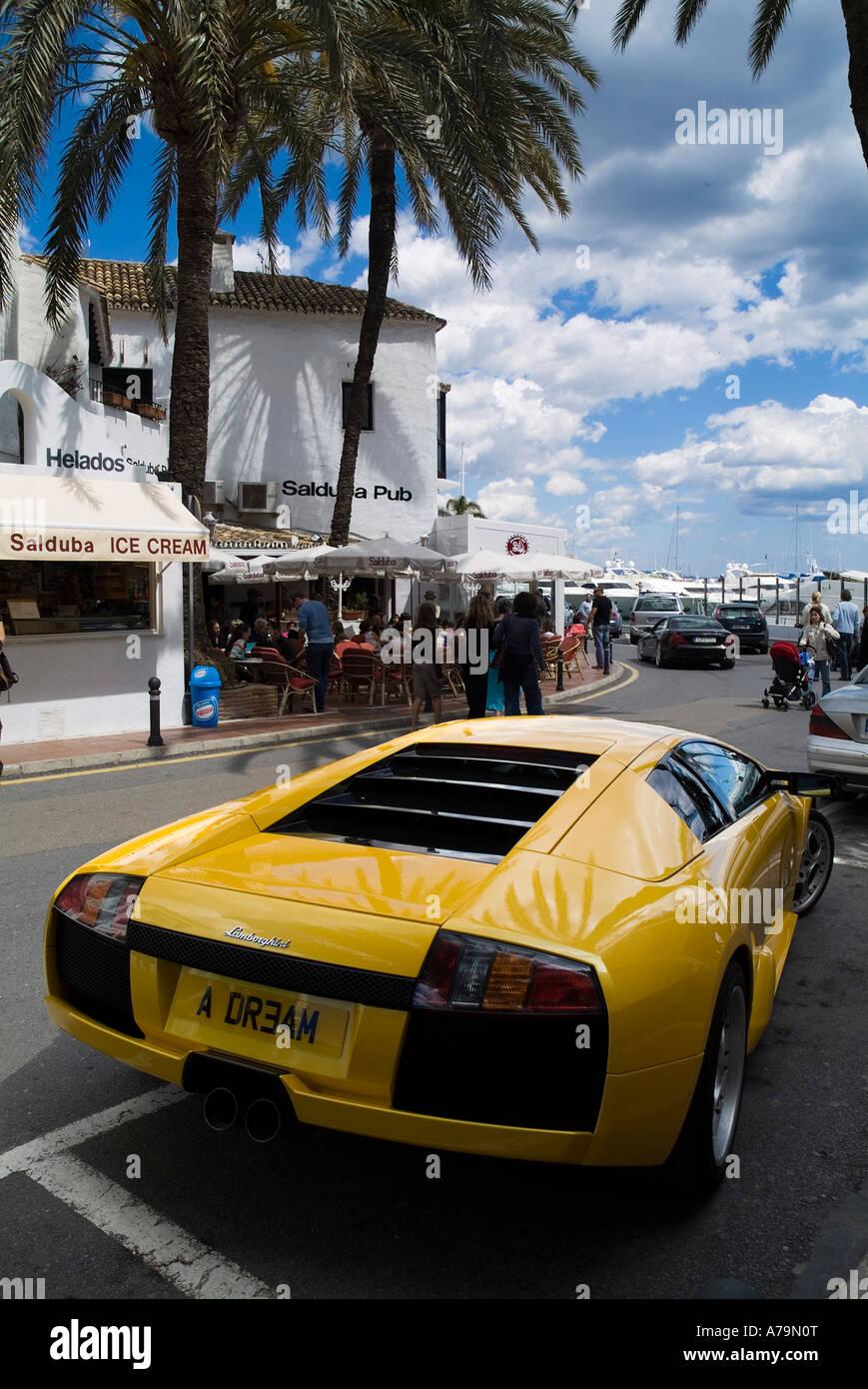 Dh Harbour Puerto Banus Espana Lamborghini Murcielago Amarillo Auto