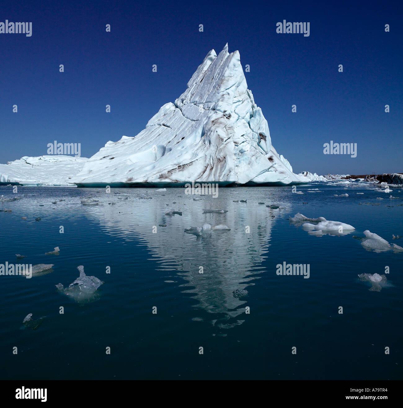 Los icebergs, La Laguna glaciar Jokulsarlon, Islandia Imagen De Stock