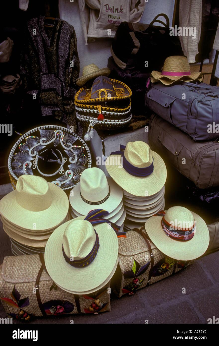 Los sombreros de ala ancha amplia souvenirs artesanías mexicanas el mercado  artesanal en la Plaza malecón cabea70a065
