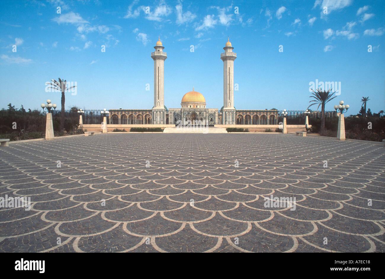 Monastir, Túnez África del Norte vista de Bourguiba mausoleo Imagen De Stock