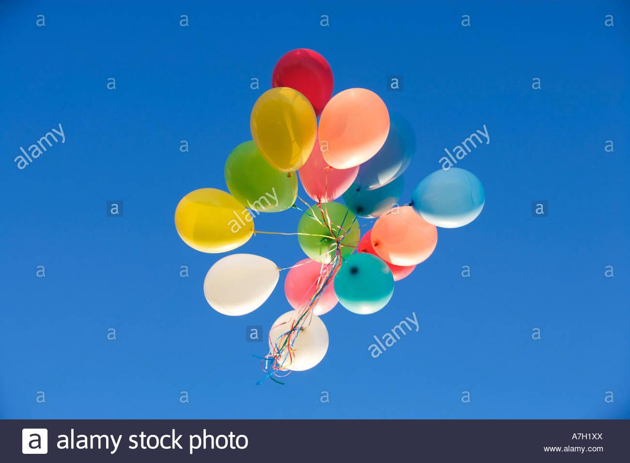 Un manojo de globos Imagen De Stock