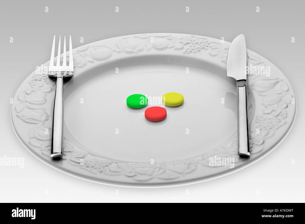 Alimentos sintéticos Imagen De Stock