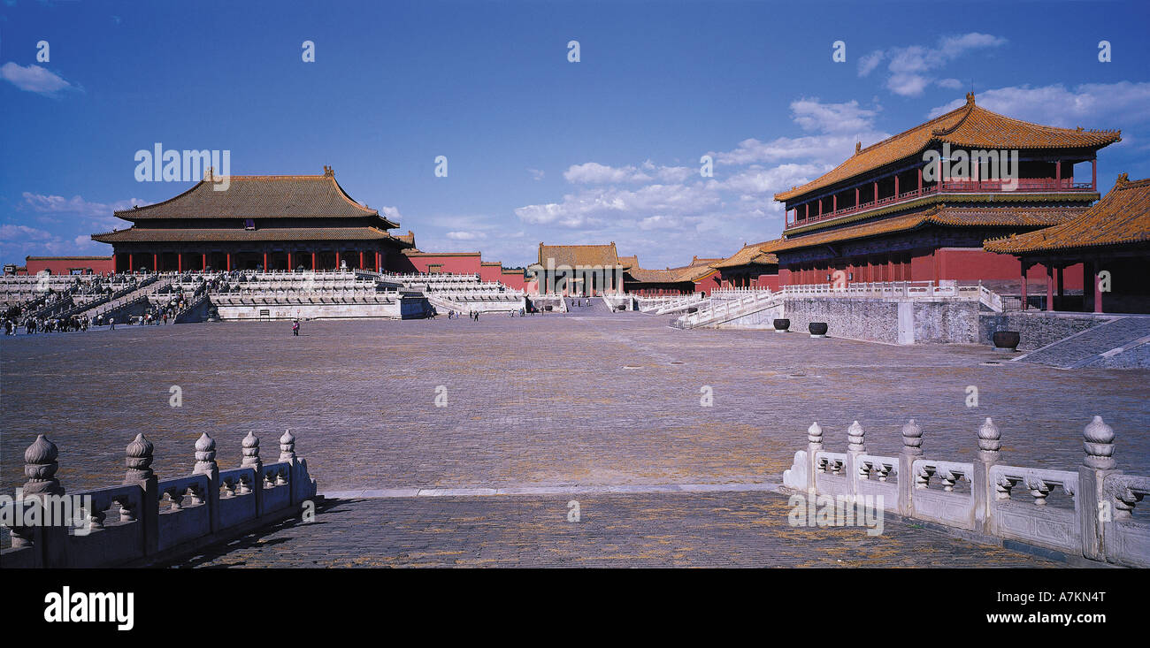 Ciudad Prohibida, Beijing, China Foto de stock