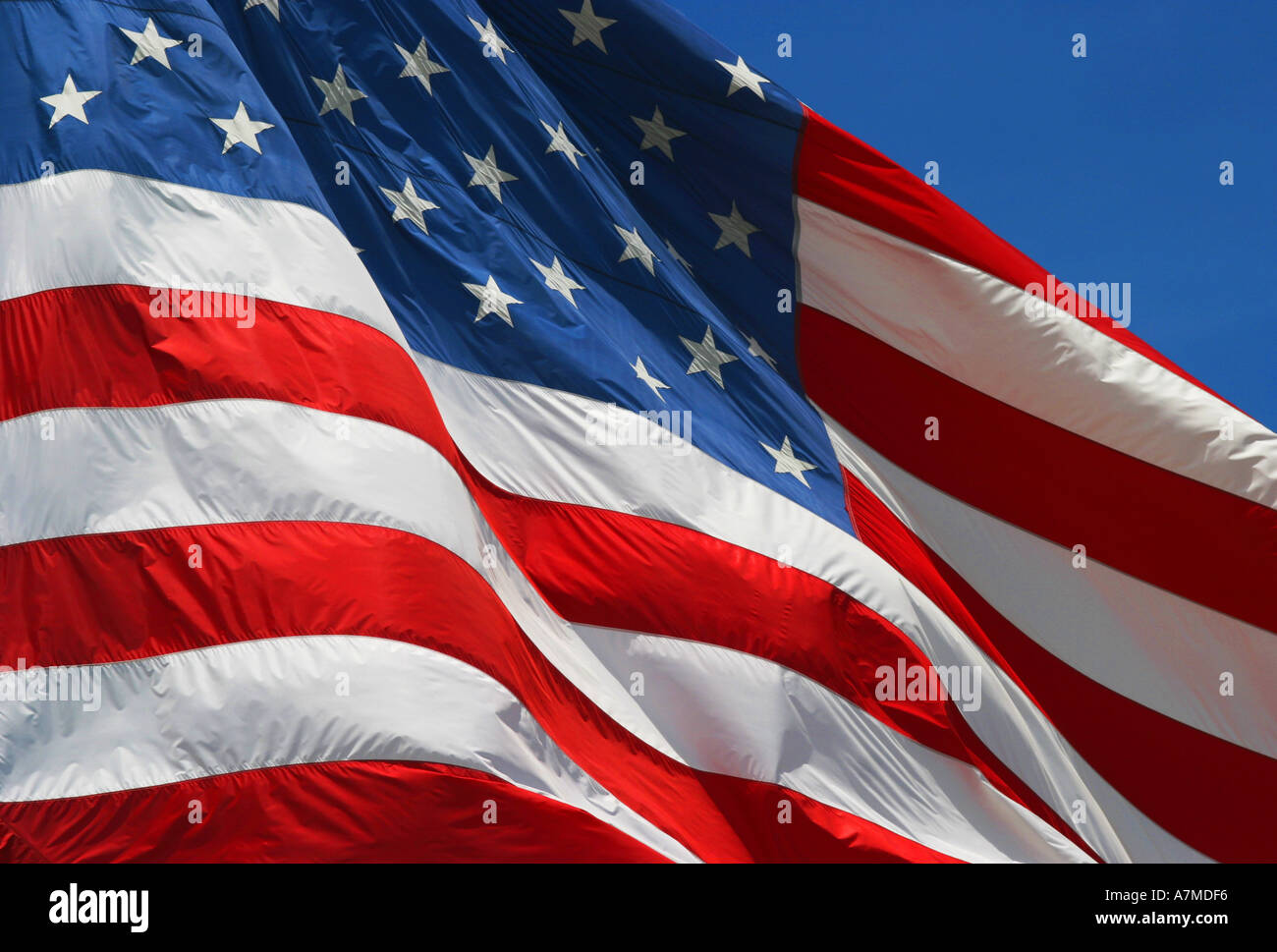 Estados Unidos de América bandera europea de las barras y estrellas Foto de stock