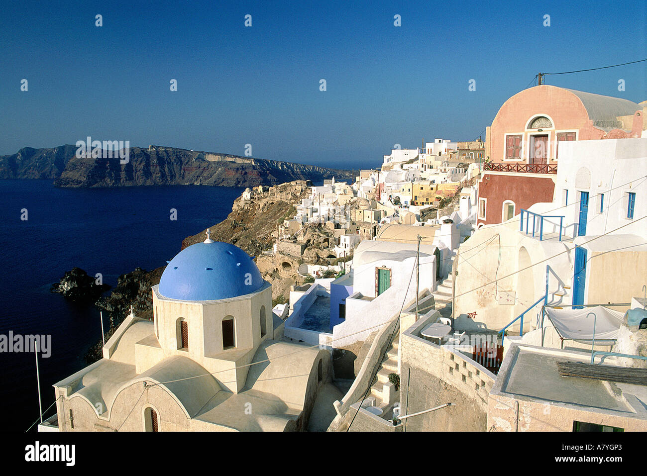 En Grecia, en las islas Cícladas, la isla de Santorini, Ia village Foto de stock
