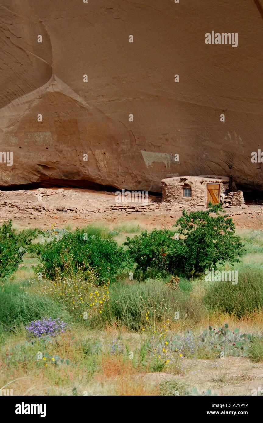 Arizona, reservación de los indios navajos, Chinle, Monumento Nacional Cañón de Chelly, Cañón Imagen De Stock