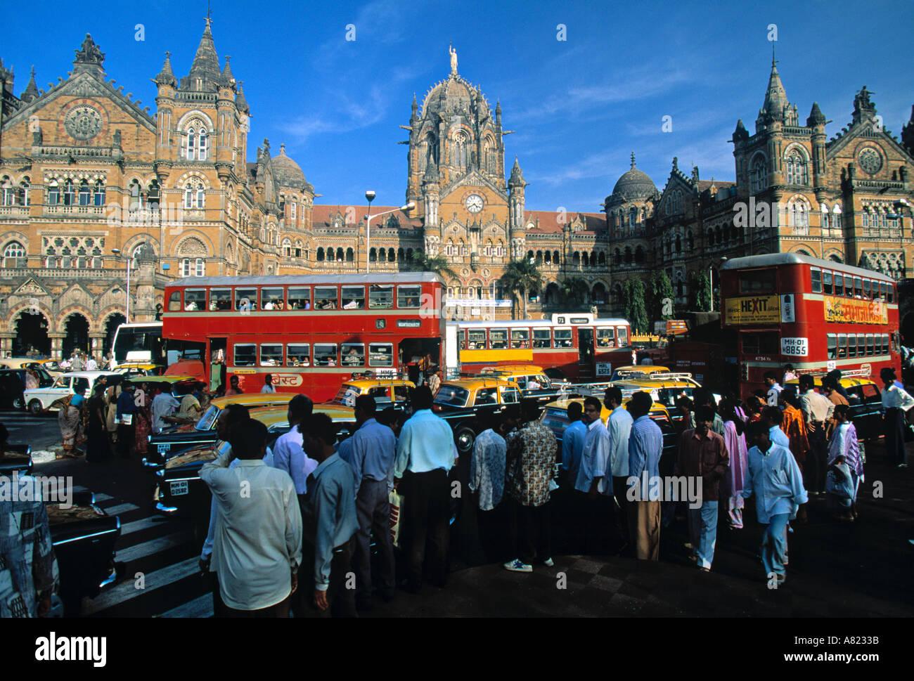La estación de tren Victoria, Mumbai (Bombay), India Imagen De Stock