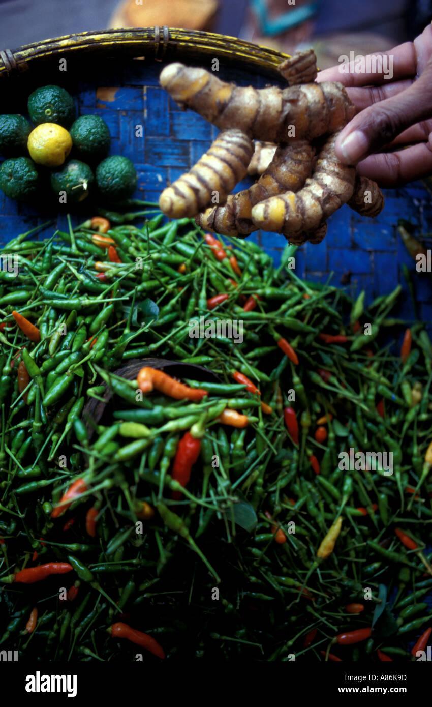 Marketplace Banda isla del archipiélago de las Molucas o islas de las especias de Indonesia Foto de stock
