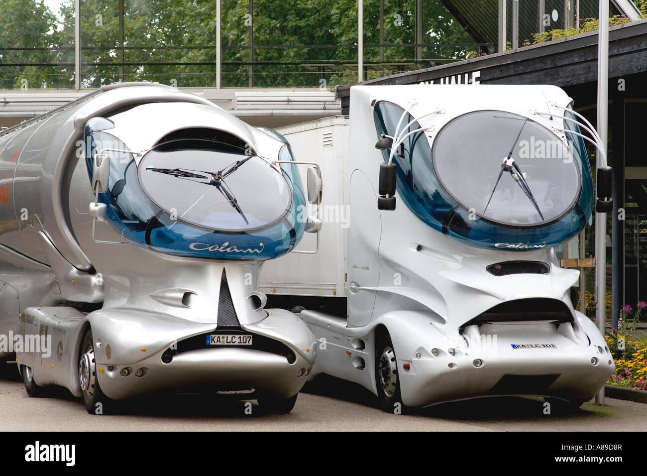 Camiones futurista, diseñado por colani, Karlsruhe, Baden Wuerttemberg, Alemania Imagen De Stock