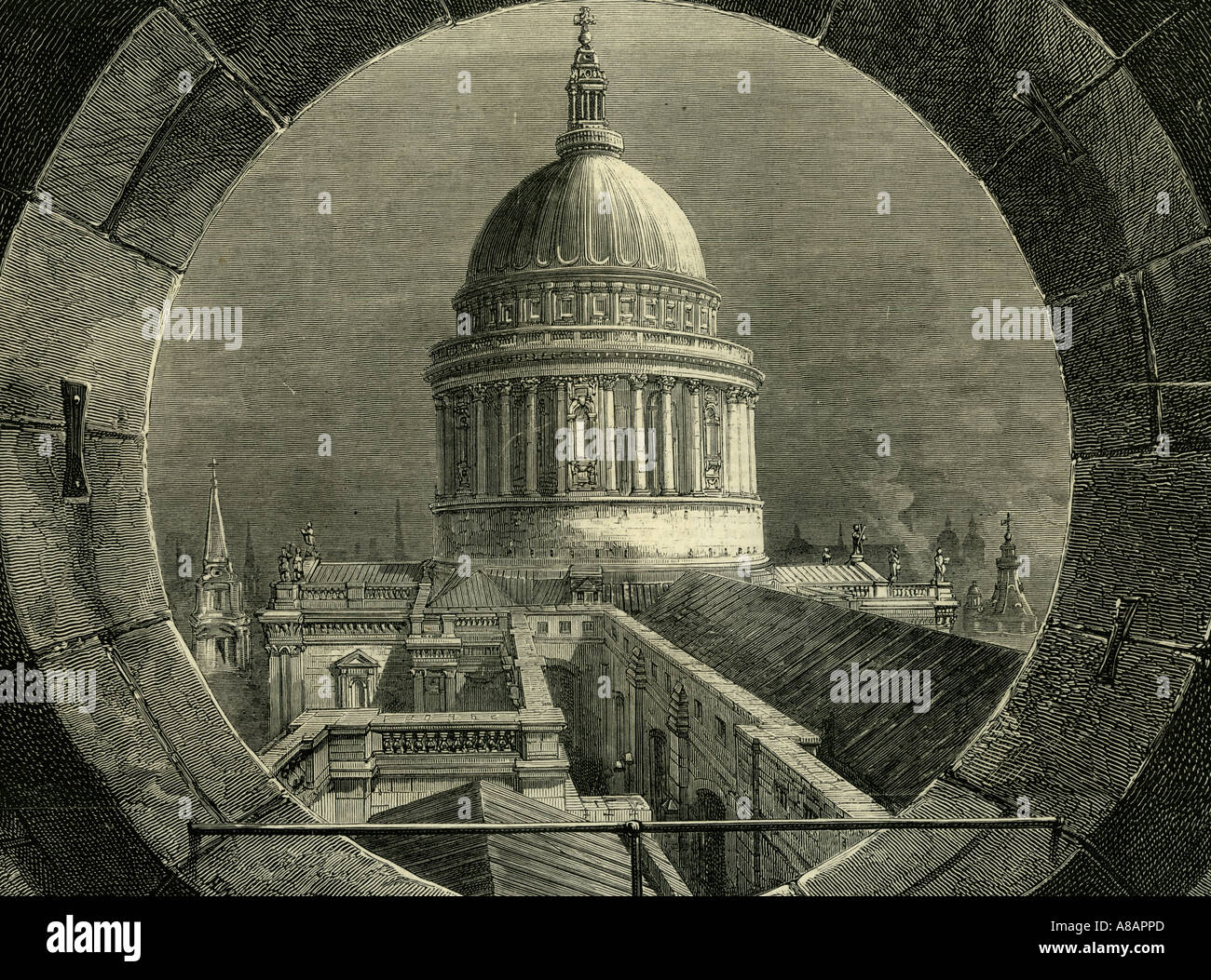 ST. Paul London, 1878Foto de stock