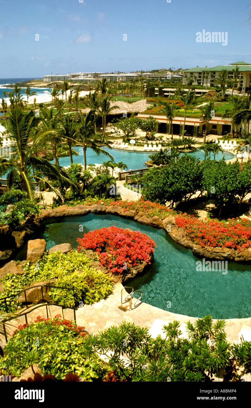 Hyatt Regency Kauai Hawaii Kauai en Poipu Imagen De Stock