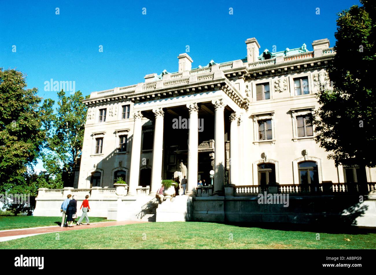 Museo de la ciudad de Kansas City, Missouri, una vez la casa larga Imagen De Stock