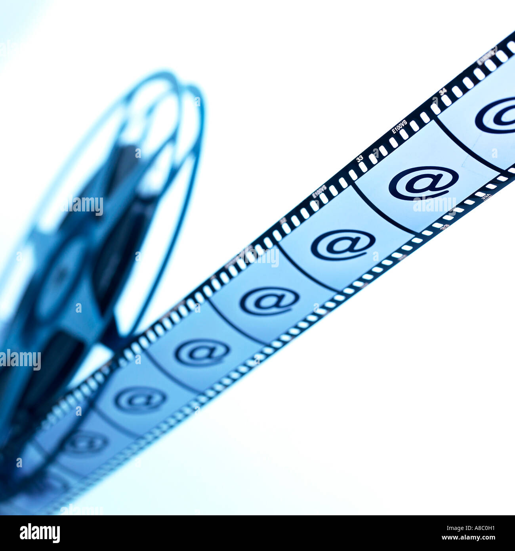 Imagen de un rollo de película Imagen De Stock