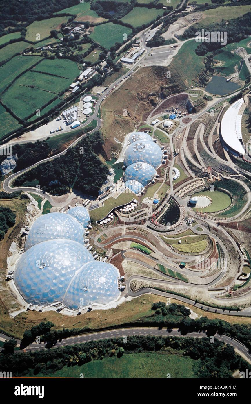 Mapa de El proyecto Eden Cornwall Reino Unido Europa Imagen De Stock