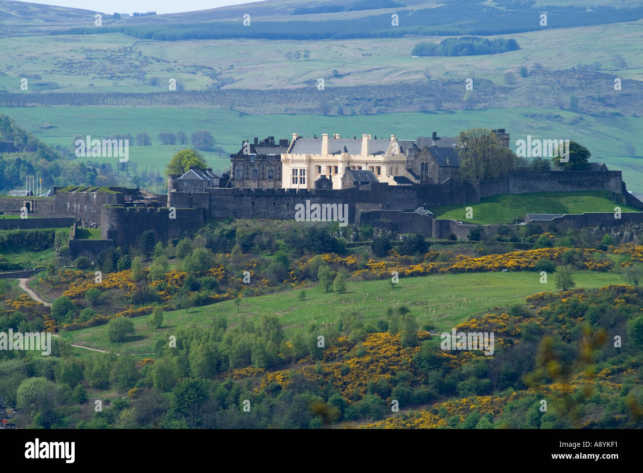 dh STIRLINGSHIRE Stirling Castillo de Stirling Castillos históricos escoceses escocia Foto de stock