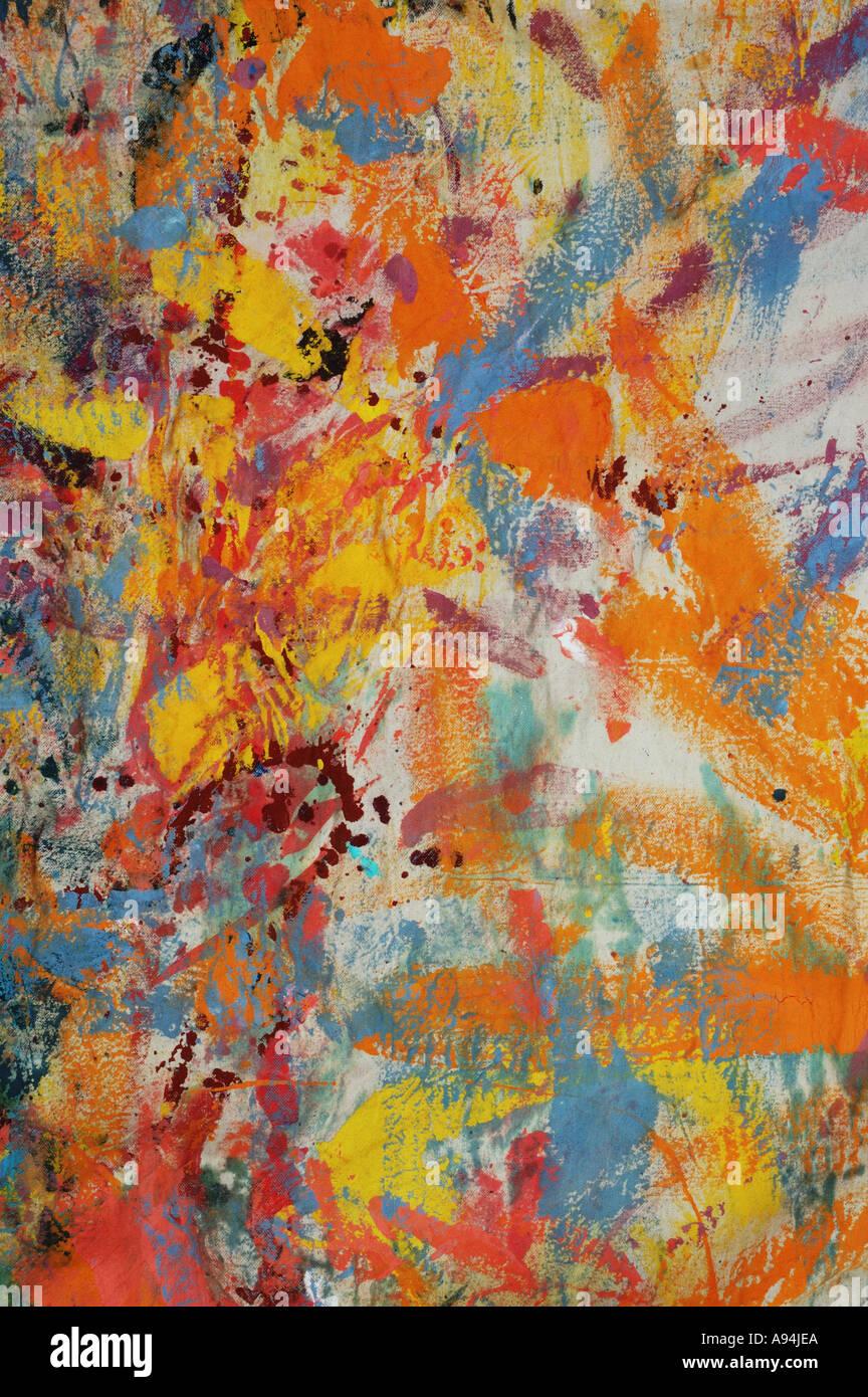 Patrón abstracto pintores hoja caída artist studio piso dsca 3887 Imagen De Stock
