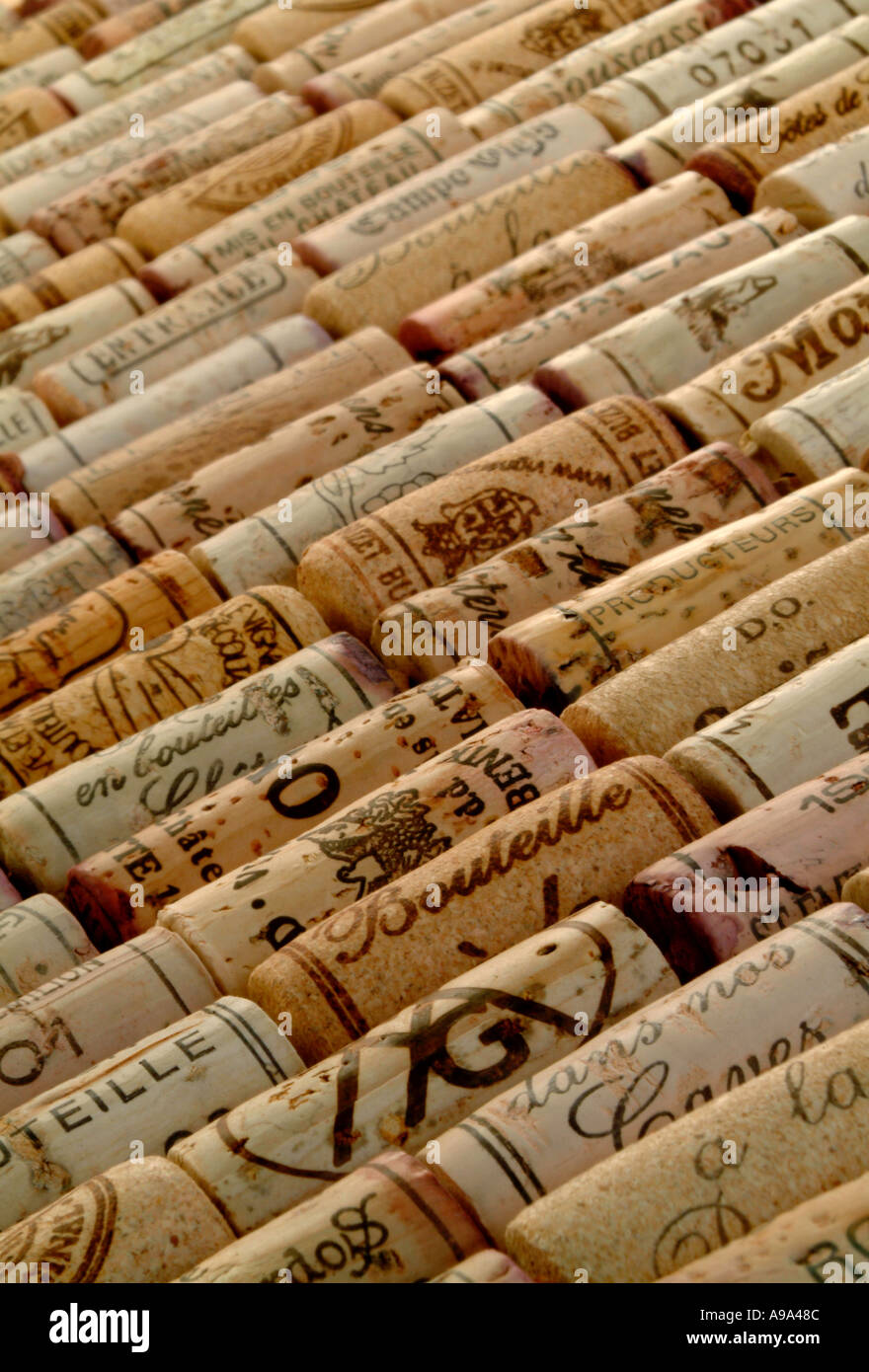 Corchos de vino tinto Imagen De Stock