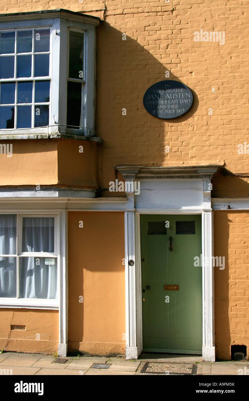 La casa de Jane Austen Winchester Hampshire Inglaterra - Jane pasó las últimas semanas de su vida en esta Imagen De Stock