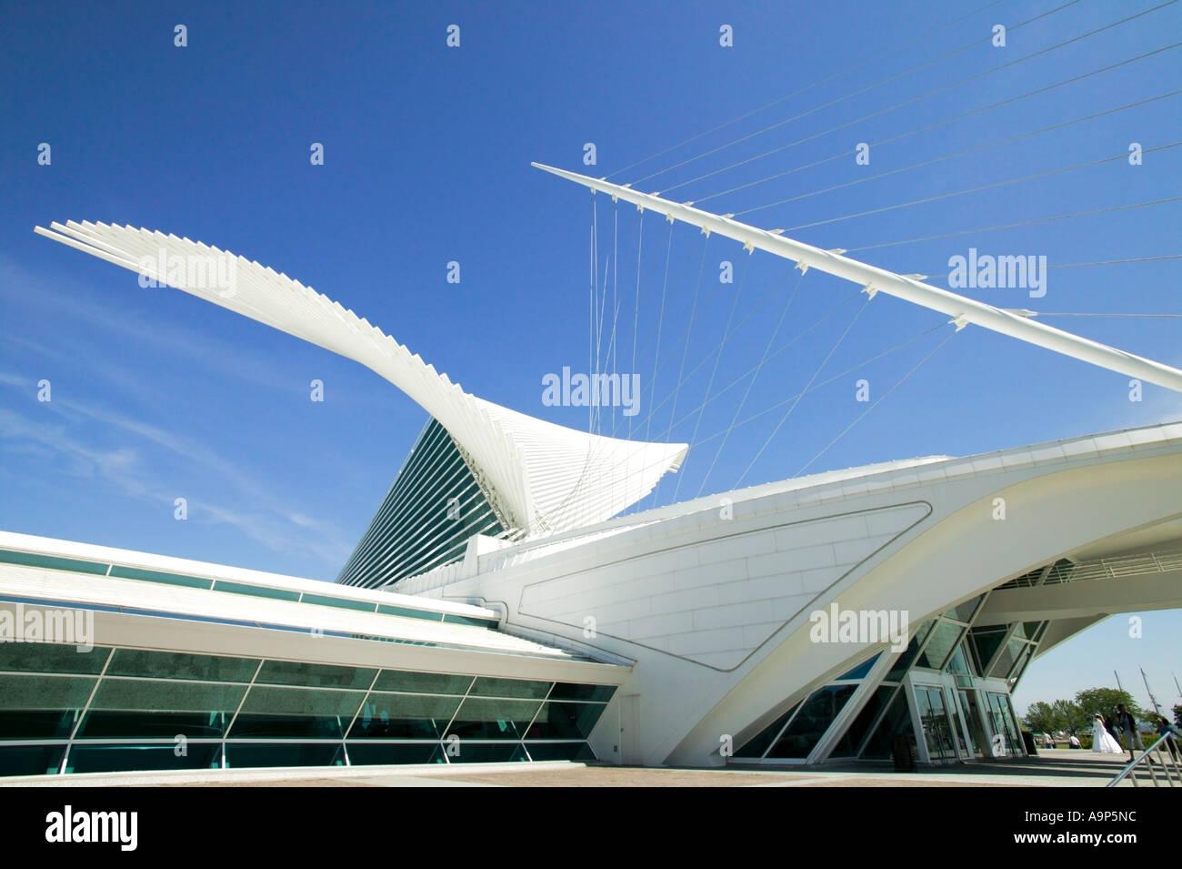 Calatrava ala del Museo de Arte de Milwaukee Milwaukee, Wisconsin, EE.UU. Imagen De Stock
