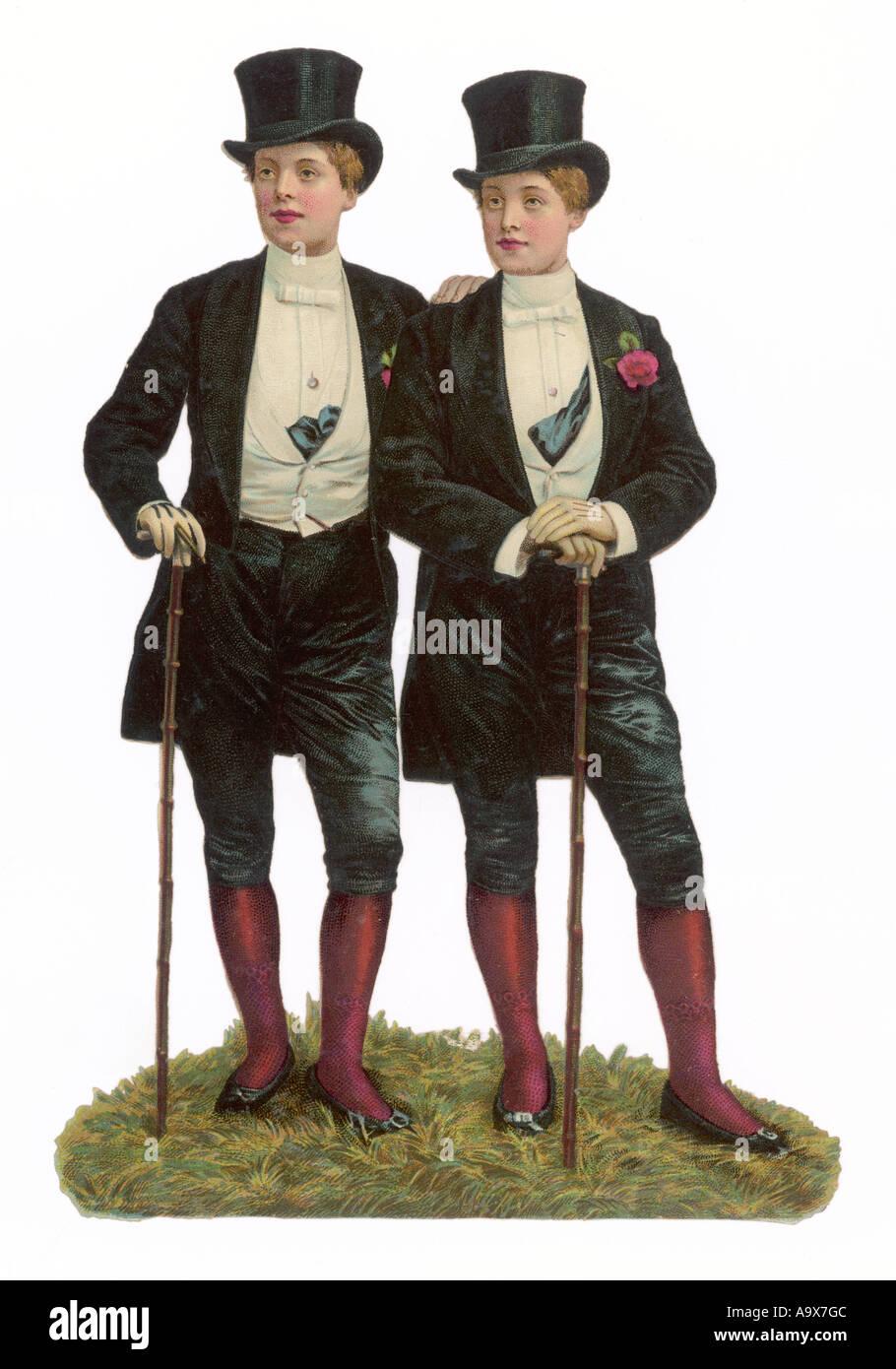 Mujeres en ropa de hombre de la Chatarra Imagen De Stock
