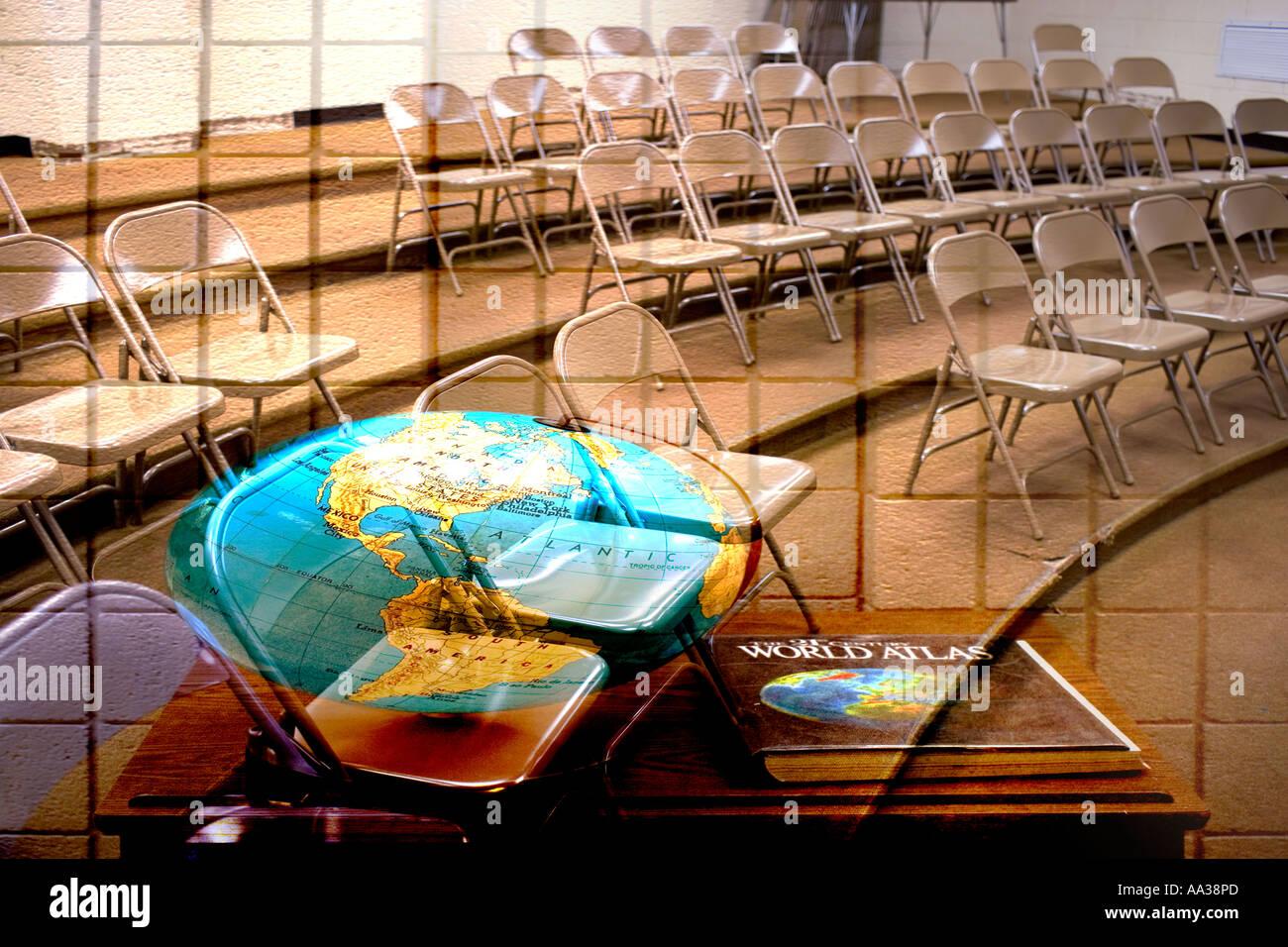 Las aulas de la escuela de alto concepto Imagen De Stock