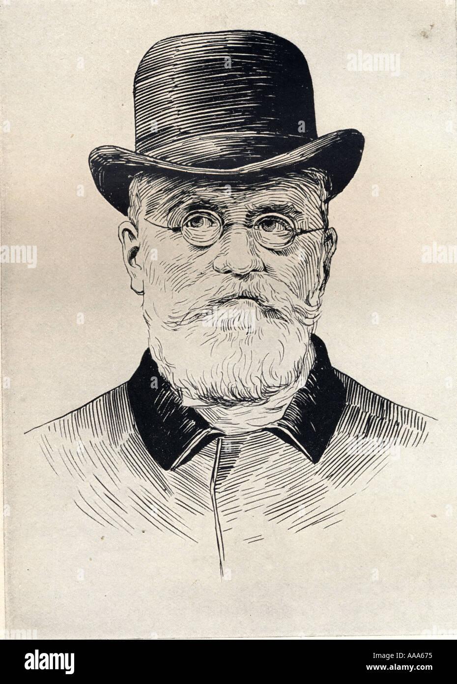 Karl Friedrich August Ferdinand Julius von Holstein, aka la eminencia gris del Ministerio de Relaciones Exteriores alemán, 1837 - 1909. Foto de stock