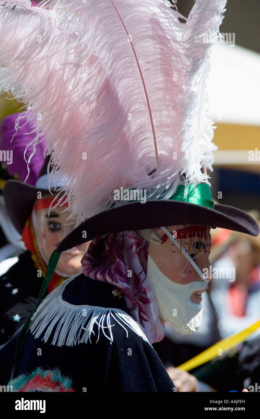 El baile de máscaras con el sombrero de plumas en el carnaval de la ciudad  de cbc1b8196ce
