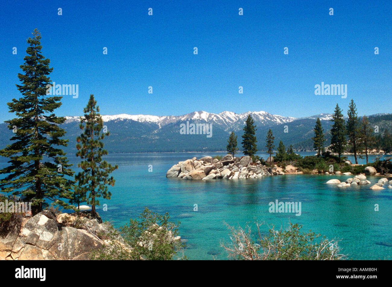 LAKE TAHOE NV Lake Tahoe, Nevada State Park Imagen De Stock