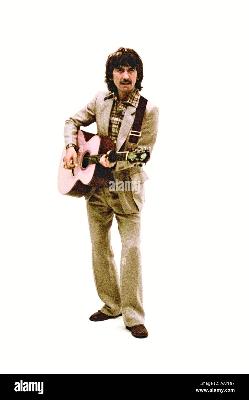 George Harrison haciendo video musical de su single Blow away 1978. Por0045 Imagen De Stock