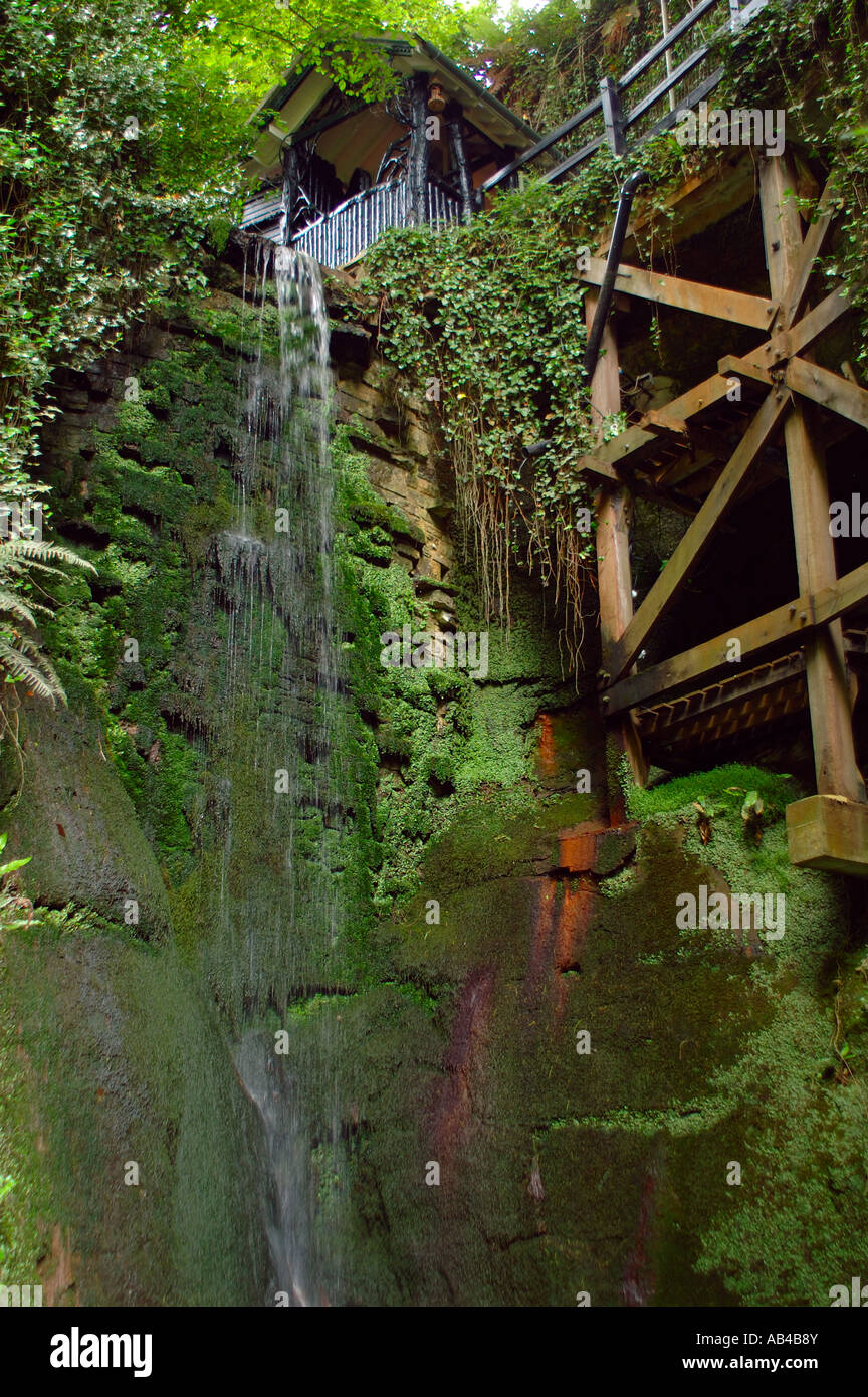 Shanklin Chine, Shanklin, en la Isla de Wight, Inglaterra Imagen De Stock