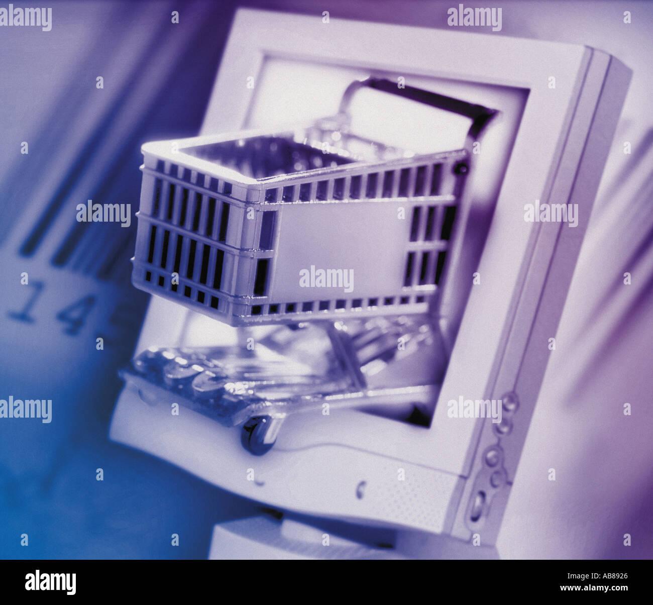 Compras en línea Imagen De Stock