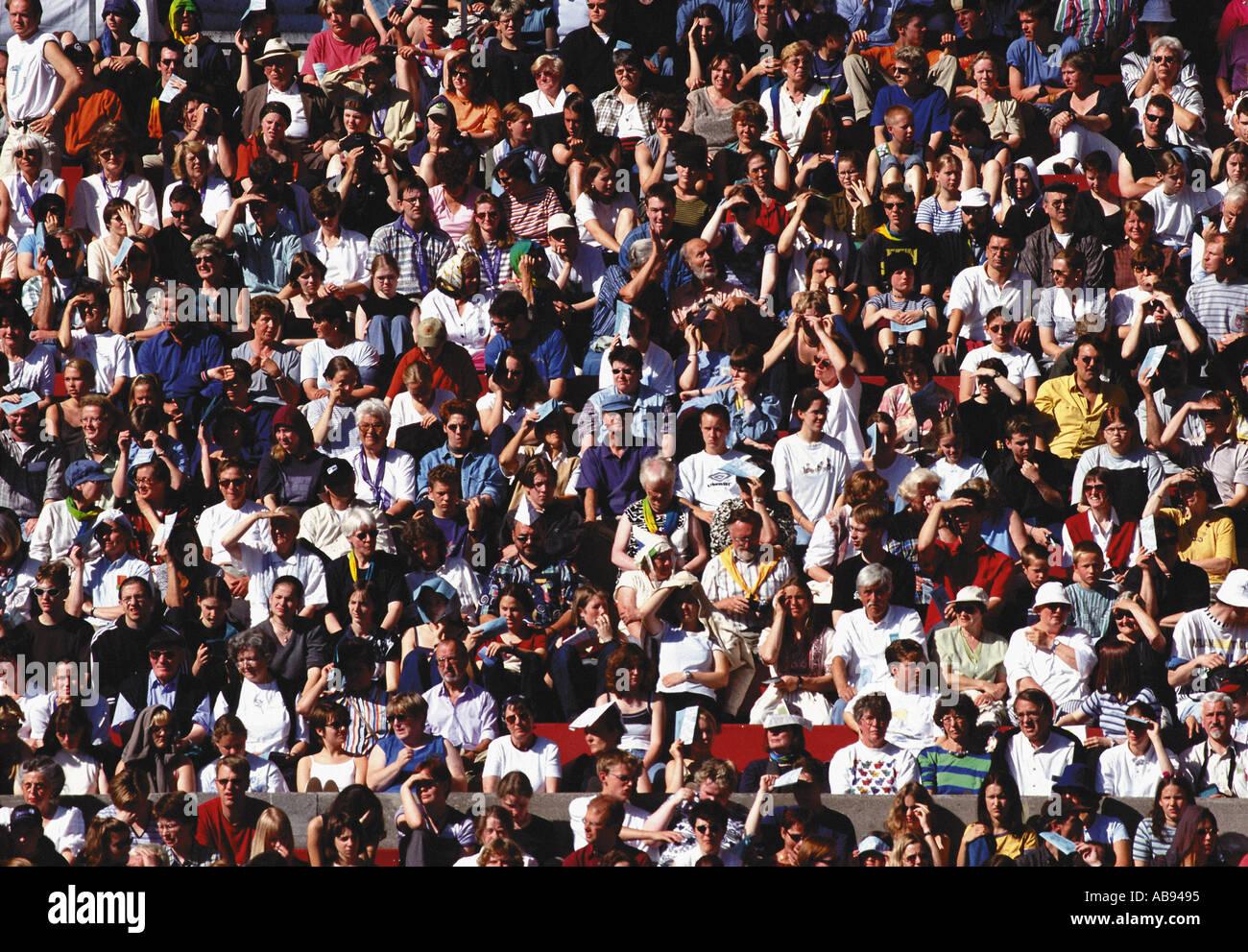Espectadores Foto de stock