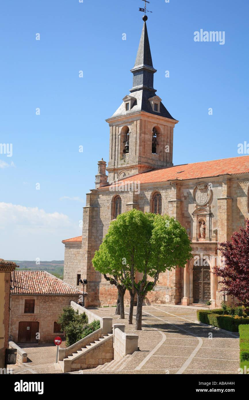 España Castilla Leon Lerma Iglesia colegial de la Iglesia de San Pedro Imagen De Stock