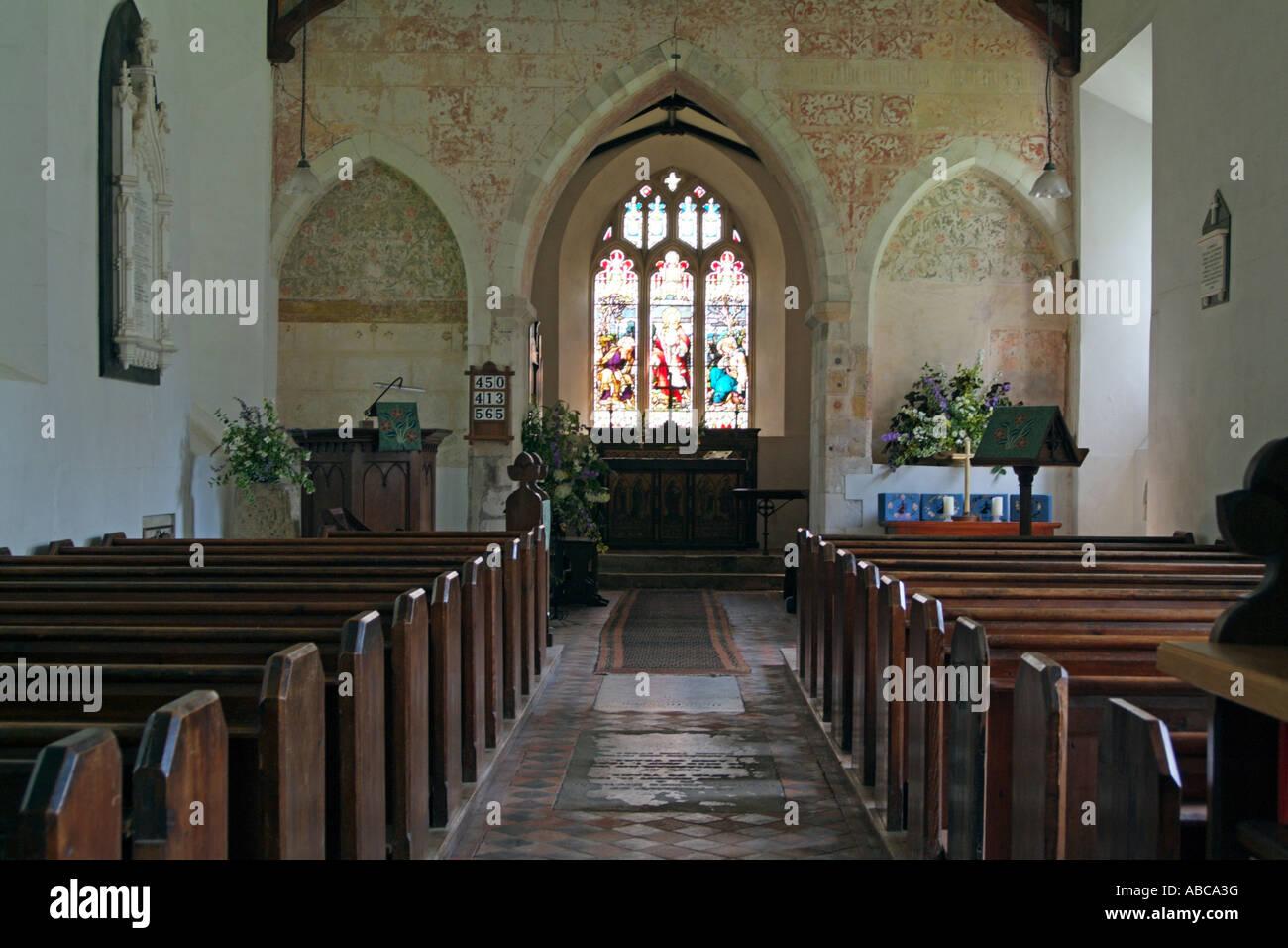 Jane Austen nació en Steventon Su padre fue Rector de la Iglesia de San Nicolás del siglo 12 Steventon Imagen De Stock