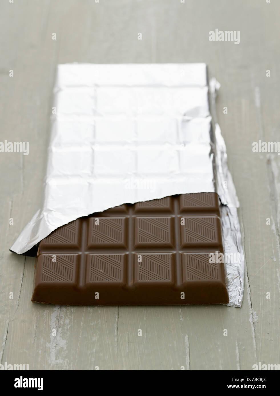 Opened Bar Of Chocolate Imágenes De Stock & Opened Bar Of Chocolate ...