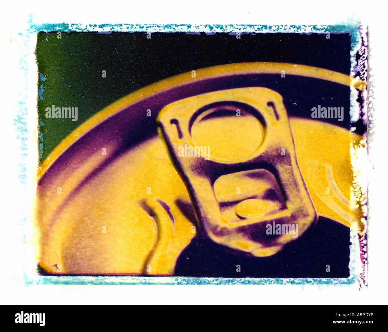 Latas en Polaroid Image Transfer Imagen De Stock