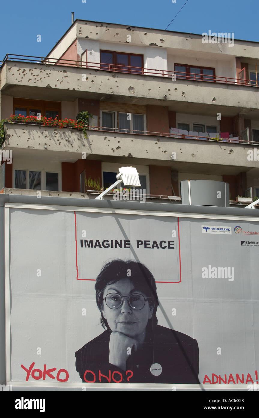 Movimiento de paz de Bosnia de Sarajevo Imagen De Stock