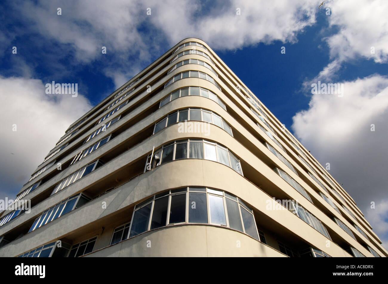 El recientemente restaurado de grado 11 según la lista edificio Art Deco de corte de la Embajada Foto de stock