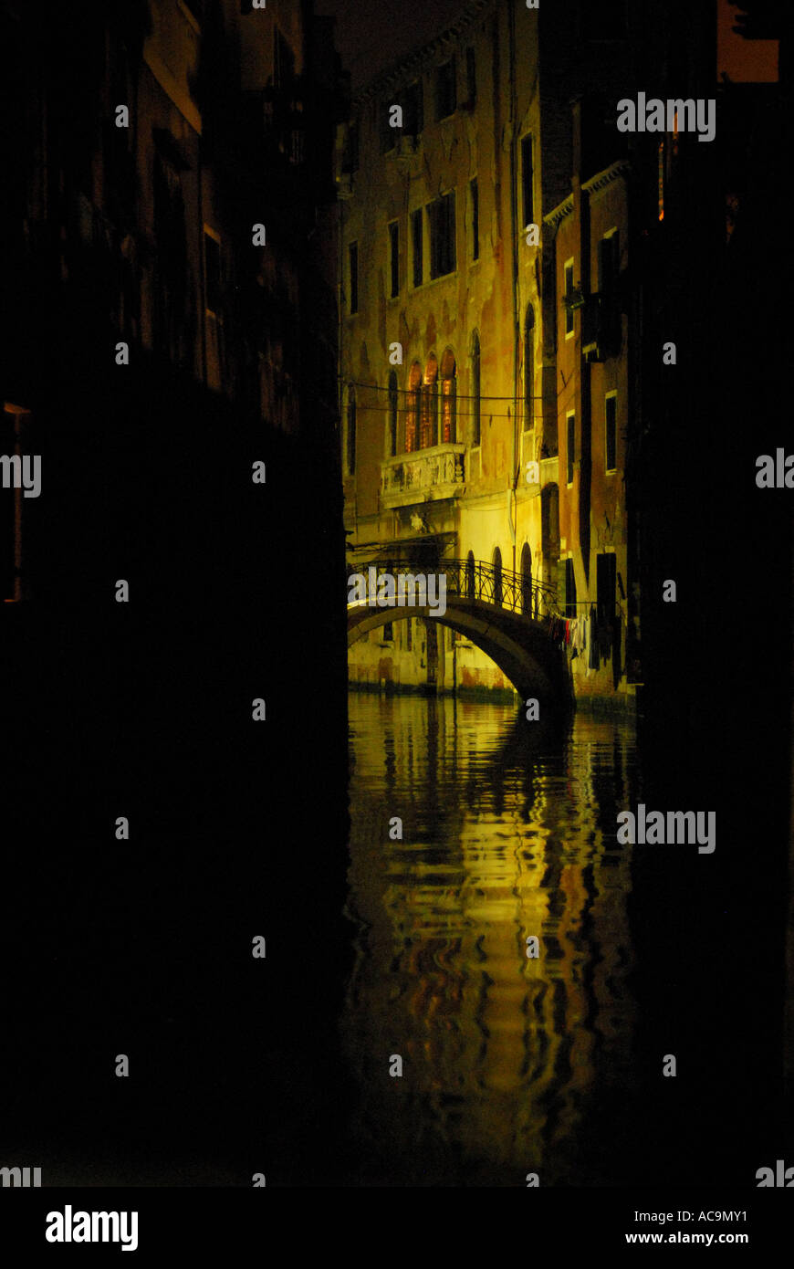 La noche en Venecia Italia Foto de stock
