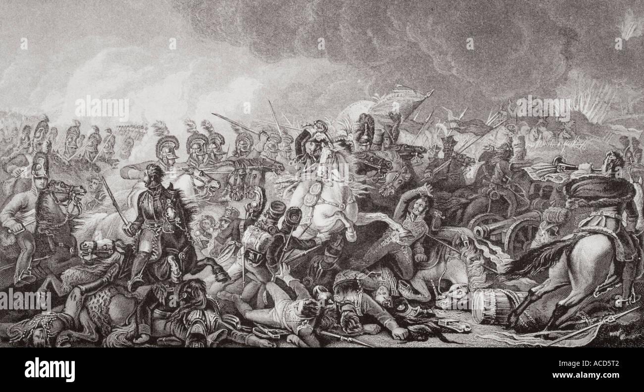 Waterloo la carga decisiva de los guardias el 18 de junio de 1815 Imagen De Stock