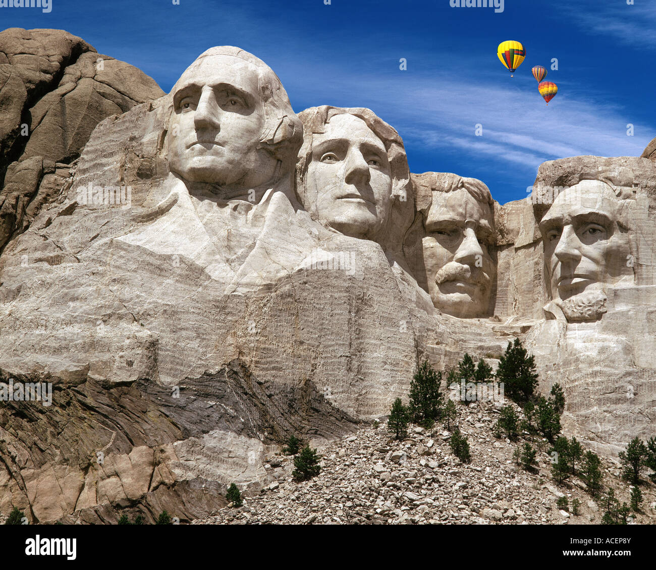 Estados Unidos - South Dakota: El Monumento Nacional Monte Rushmore Imagen De Stock